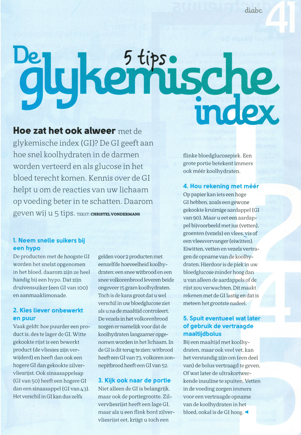 De Glykemische Index
